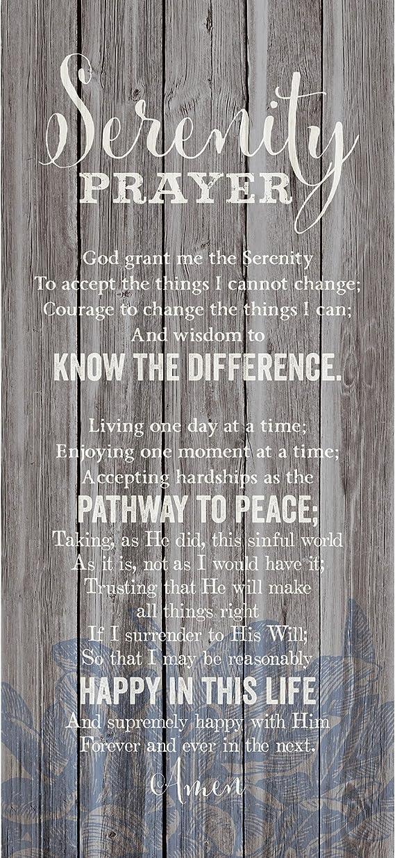 Dexsa Serenity Prayer New Horizons Wood Plaque 5 5 X 12 Home Kitchen Amazon Com