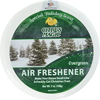 Citrus Magic Limited Edition Holiday Fragrance Solid Air Freshener Evergreen, Pack of 3, 7-Ounces Each