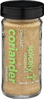 Spicely Organic Coriander Powder 1.40 Ounce Jar Certified Gluten Free