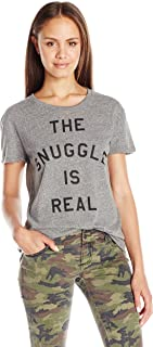 Juniors the Snuggle IS Real Graphic Tee