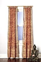 Gold Yellow Amber Curtain Set Boho Window Treatment Light Sari 108 96 84 inch for Bedroom Living room Dining room Kids Studio Canopy Bed Tent Hippie Gypsy Chic Bright Colorful HomeDecor W Gift bag