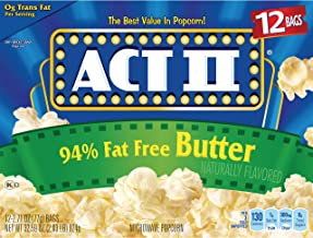 ACT II 94% Fat Free Butter Popcorn, 2.71 Ounce (12 Count)