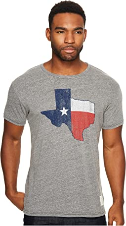 The Original Retro Brand - Texas Flag Short Sleeve Tri-Blend Tee