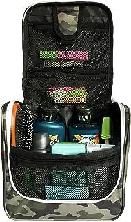 WAYFARER SUPPLY Hanging Toiletry Bag: Pack-it-flat Travel Bag, Camouflage