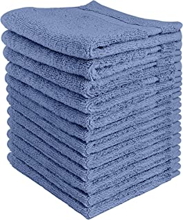 Utopia Towels - Premium Washcloths Set (12 x 12 Inches, Electric Blue) - 600 GSM 100% Cotton Flannel Face Cloths, Highly A...