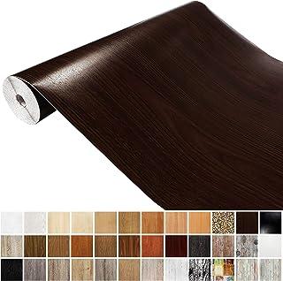 Generisch DecoMeister Klebefolien in Holz-Optik Holzfolien Deko-Folien Holzdekor Selbstklebefolie Möbelfolie Selbstklebend Dark Maron 45x240 cm