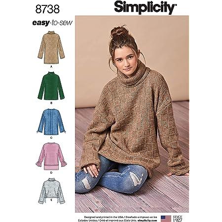 Simplicity Learn Knitting Pattern XS-XL Black