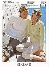 Sirdar Denim Tweed DK Knitting Pattern 5826 Tunis Sweater for Men and Women 32-50
