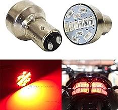 Mega Racer Motorcycle 1157 Super Red LED 12 Chip BAY15D P21/5W Tail Stop Brake Light 7528 2057 2357 Scooter Chopper Bike Moped Lamp