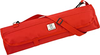 Mercer Culinary 7-Pocket Knife Roll Storage Bag, One Size, Red
