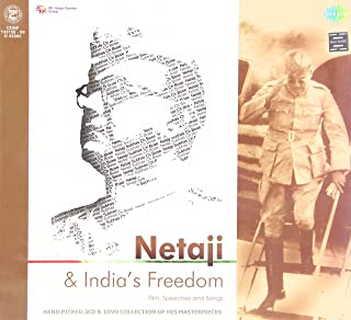 Netaji & India's Freedom Film, Speeches and Songs- Hand picked 3 CD & 1Dvd collection of His Masterpieces (Brand New Set, Released By SaReGaMa)