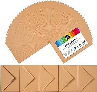 perfect ideaz 50cartes pliantes en papier craft A6 avec enveloppe (11x15,5cm), fabriquées de manière durable en Allema...