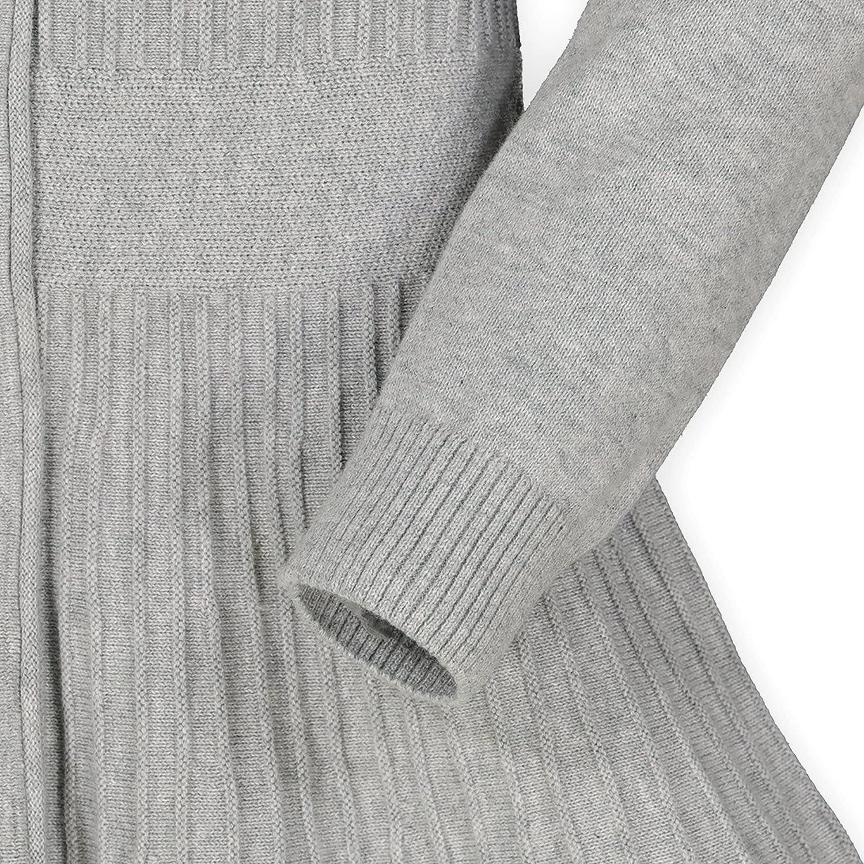 Hope & Henry Girls' Long Sleeve Sweater Dress with Ribbed Skirt