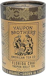 Florida Chai Yaupon Tea – Yaupon Brothers Holly Tea – Wild-Crafted, Naturally Caffeinated – Antioxidant-Rich – Florida Grown Superfood – 16 Natural Fiber Tea Bags