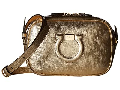 Salvatore Ferragamo City Crossbody (Oro Mekong) Cross Body Handbags
