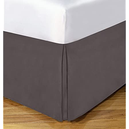 TODAYS HOME Microfiber Classic Tailored Styling Bed Skirt Dust Ruffle King Black