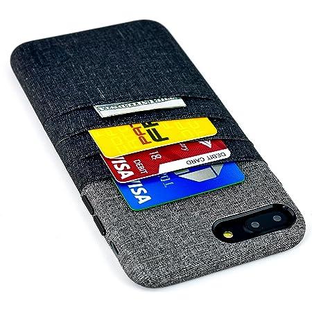 Dockem Cover per iPhone 7 Plus e 8 Plus con Tasche per Carte e Soldi: Cover e Portafoglio Minimali in Finta Pelle con Finitura Simil Tela, Look ...