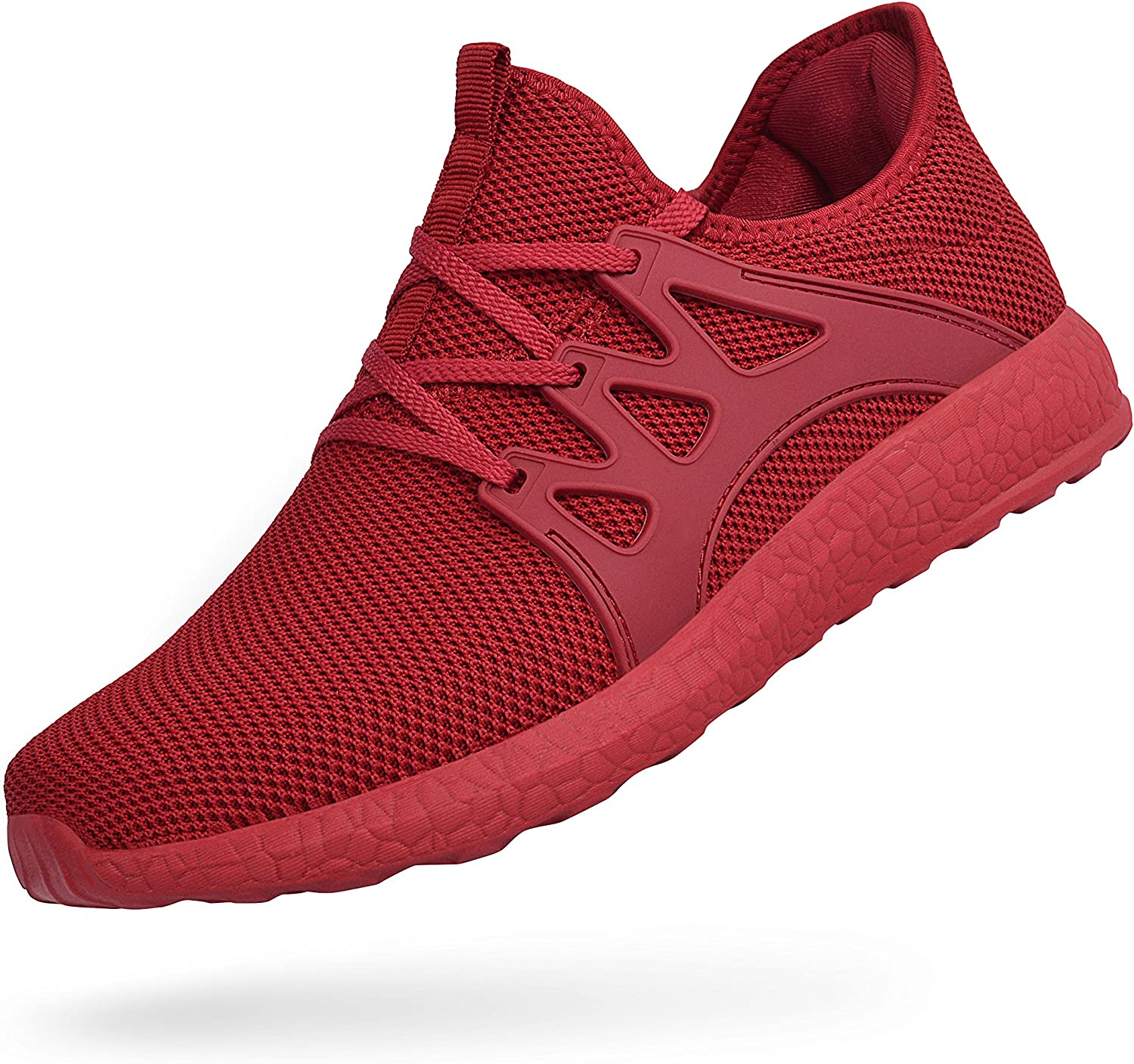 Feetmat Womens Sneakers Ultra Lightweight Breathable Mesh Athletic Walking Running shoes Red 7