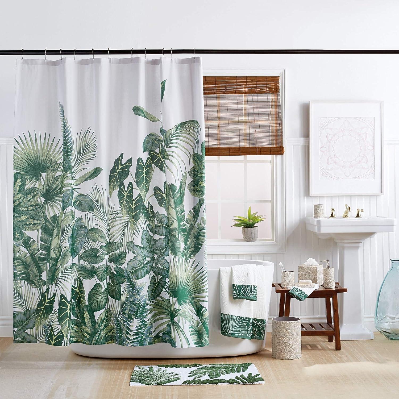 Destinations Indoor Garden Shower Curtain, 72 in x 72 in (W x L), Green