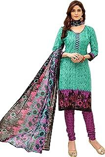 Minu salwar Cotton Printed Suit sets Cyan(Koyal3_3013)