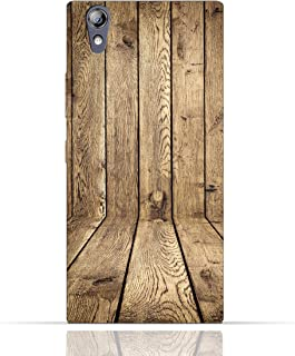 Lenovo P70 TPU Silicone Case with Wood Texture Old Panels Pattern