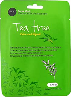 Tea Tree : Celavi Essence Facial Mask Paper Sheet Korea Skin Care Moisturizing 24 Pack (Tea Tree)