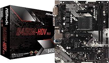 ASRock B450M-HDV R4.0 6Gb/s USB 3.1 HDMI Micro ATX AMD Motherboard