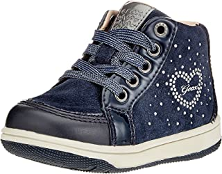 GEOX Baby Girls' B New Flick D Trainers, Black