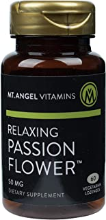 Mt. Angel Vitamins - Relaxing Passion Flower Lozenges, Promotes Relaxation, 60 Vegetarian Lozenges