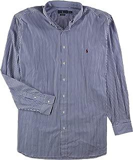 Mens Stripe Stretch Button Down Shirt
