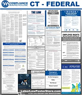 2019 Connecticut CT State Federal All in 1 Labor Law Poster Workplace Compliance