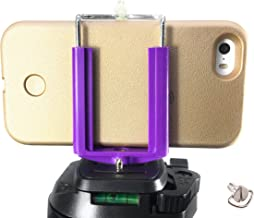 DaVoice Cell Phone Tripod Adapter Mount Holder Clamp Compatible with iPhone X XS Max XR Se 8 7 6 6s Plus Samsung Galaxy S9 S8 S7 Adjustable Smartphone Bracket Clip Cellphone Attachment (Deep Purple)
