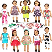 21 Pcs 18 inch Doll Clothes and Accessories fit American 18'' Girl Dolls - Including 10 Complete Set of American Doll Clot...