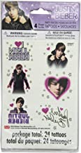 Justin Bieber Tattoo Sheets, 4ct