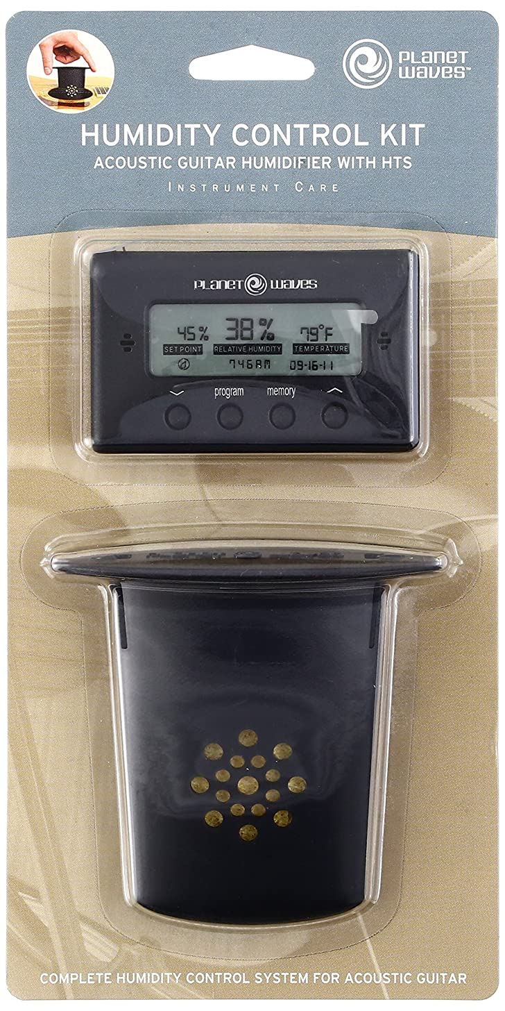 Planet Waves Acoustic Guitar Humidifier with Digital Humidity & Temperature sensor