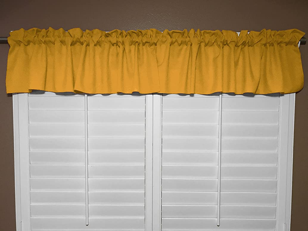 Zen Creative Designs Solid Marigold Poplin Window Valance 58 Inch Wide (16