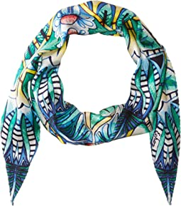 Echo Design - Island Palm Silk Diamond Shape Scarf