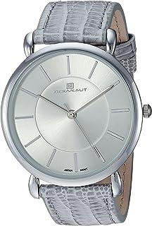 Oceanaut Women's Alma Stainless Steel Quartz Watch with Leather Strap, Grey, 20.25 (Model: OC2210)
