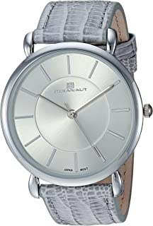 Oceanaut Women's Alma Stainless Steel Quartz Watch with Leather Strap, Grey, 20.25 (Model: OC2210)