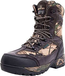 R RUNFUN Men's Waterproof Leather Hunting Boots