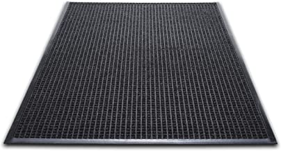 (90cm x 150cm , Charcoal) - WaterGuard Wiper Scraper Indoor Mat, 36 x 60, Charcoal