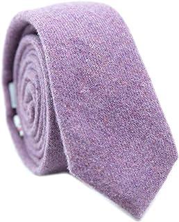 55ec4d84ea96 DAZI Men's Skinny Tie, Cotton Wool Linen Necktie, Great for Weddings, Groom,