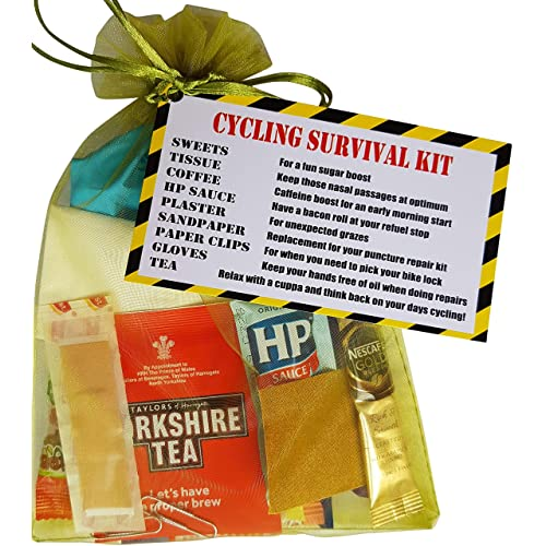 Send Smiles Miles CYCLING SURVIVAL KIT - secret santa Unique Gift for those who love Cycling! present stocking filler for men/him