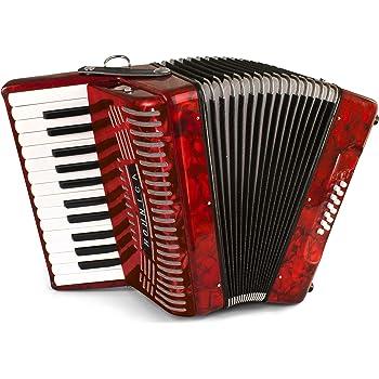 Accordion Keyboard Straight Edge Keytops Set of 24 Pearl White Kelox 19.8 mm
