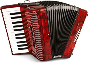 Hohner Accordions 1303-RED 12 Bass Entry Level Piano Accordion, Red