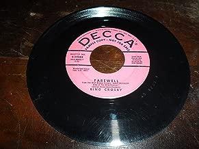 jim, johnny and jonas / farewell 45 rpm single