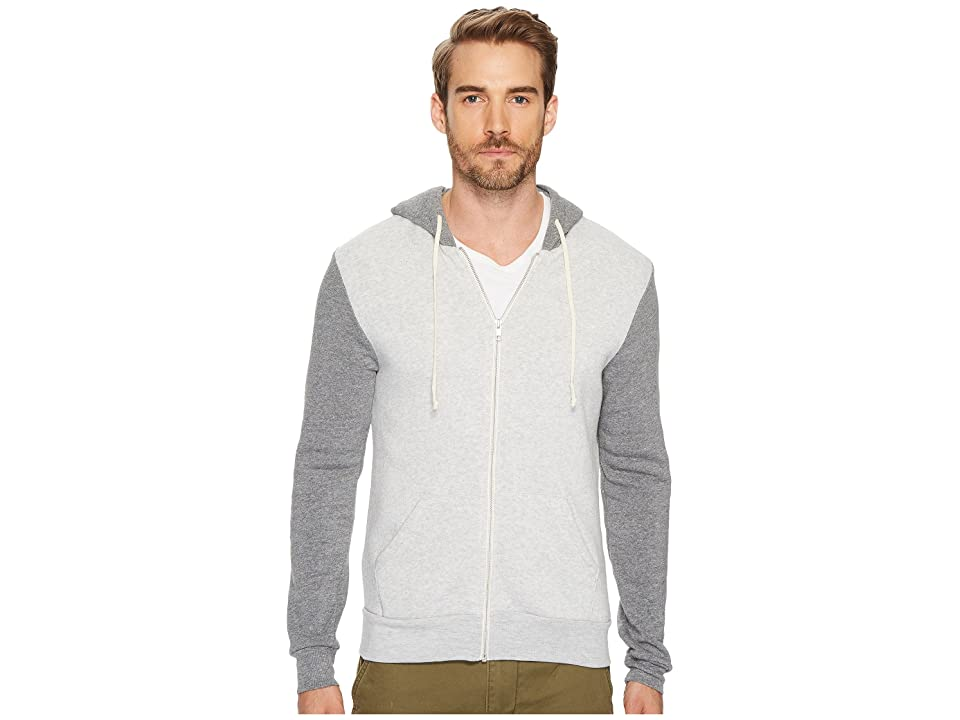 Alternative Rocky Color Blocked Hoodie (Eco Oatmeal/Eco Grey) Men