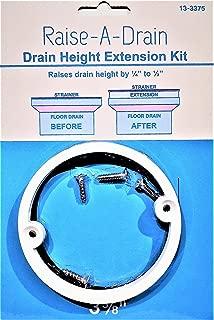 Raise-A-Drain Drain Height Extension Kit, 3-3/8 Diameter