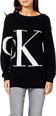 Calvin Klein Jeans Sliced CK Oversized Sweater Femme