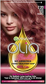 Garnier Olia Bold Ammonia Free Permanent Hair Color (Packaging May Vary), 7.20 Dark Rose Quartz, Rose Hair Dye, 1 Kit, Pac...
